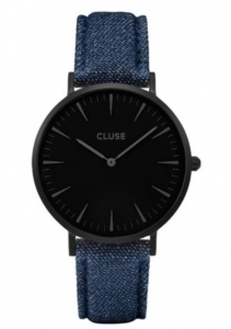 Zegarek Cluse La Boheme Full Black/Blue Denim