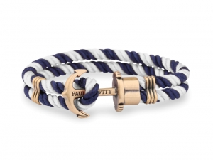 Bransoletka Paul Hewitt Brass  Nylon Navy Blue/White