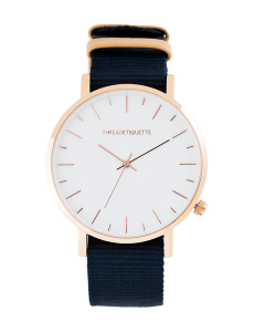 Zegarek Thread Etiquette Rose Gold/Navy Canvas