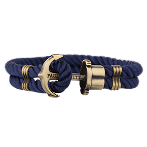 Bransoletka Paul Hewitt Brass Nylon Navy Blue