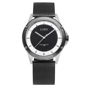Zegarek LORD Bolt Black/White Mesh