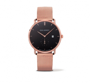 Zegarek Paul Hewitt Rose Gold/Black Sea Mesh/Rose Gold