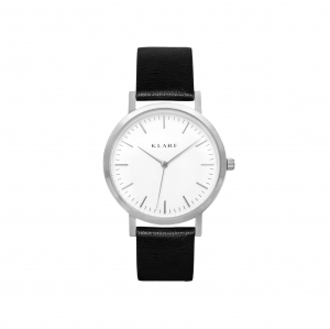 Zegarek Klarf Classic Silver/Black Leather