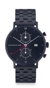 Zegarek Kapten Chrono Black Midnight Steel