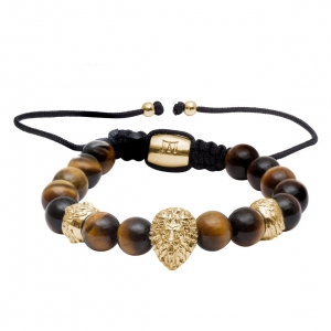Bransoletka Marcozo Gold Lion - Tiger Eye