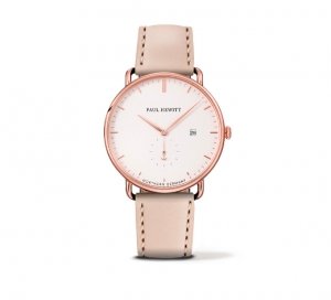 Zegarek Paul Hewitt Rose Gold/White Sand Leather/Hazelnut