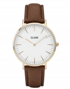 Zegarek Cluse La Boheme Gold White/Brown