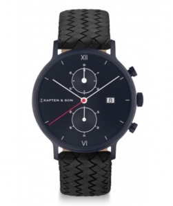 Zegarek Kapten Chrono Black Midnight Woven
