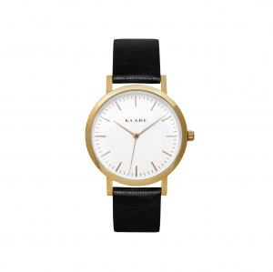 Zegarek Klarf Classic White/Black Leather
